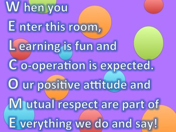 Welcome Acrostic Poem