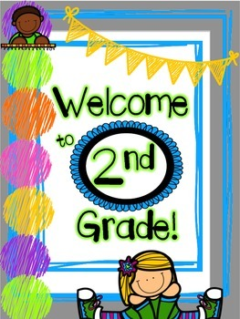 Welcome Back 2nd Grade Packet.