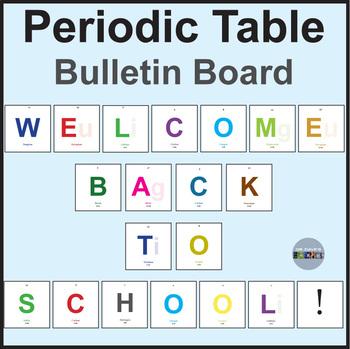 Welcome Back Bulletin Board, Science
