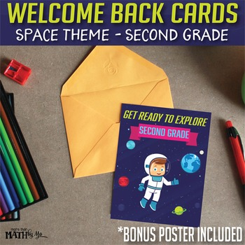 Welcome Back Cards Space Theme-Second Grade