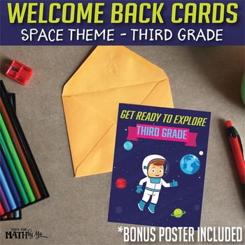 Welcome Back Cards: Space Theme-Third Grade