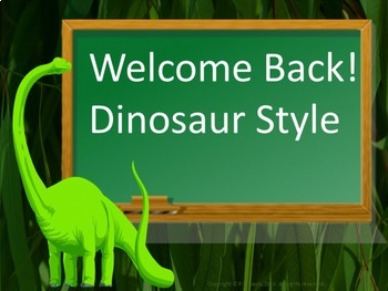Welcome Back to School Dinosaur Style