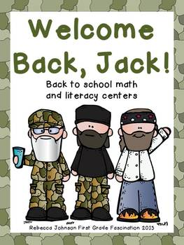 Welcome Back, Jack Math and Literacy Centers
