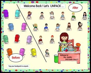 Welcome Back! Let's Unpack, Smartboard Attendance