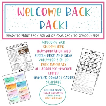 Welcome Back Pack!