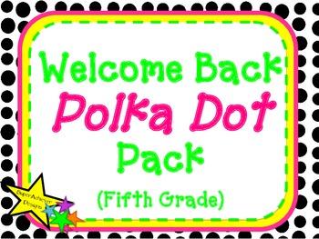 Welcome Back Polka Dot Pack_Fifth Grade