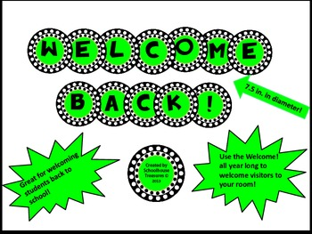 Welcome Back! Sign in Green