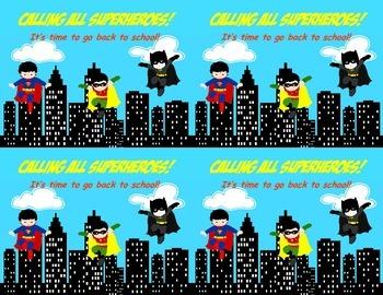 Welcome Back Superhero postcard