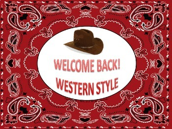 Welcome Back to School Western Style