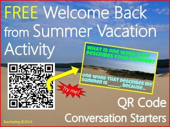 Back to School QR Code Activity {Conversation Starters}