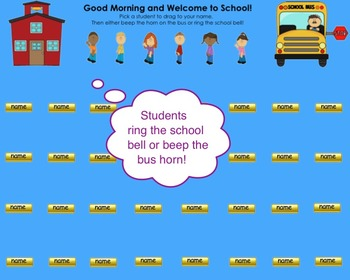 """""""Welcome Back to School"""" Schoolhouse Bus Themed SMART Boar"""