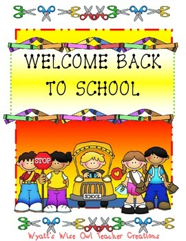Welcome Back to School Unit