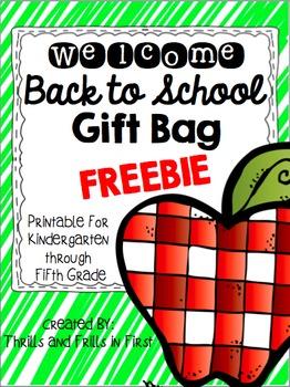 Welcome Bag Freebie (K-5)