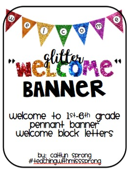 Welcome Banner - All Grades (Glitter Edition)