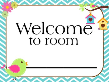 Welcome Banner (Bird Theme)  Classroom decoration