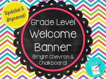 Welcome Banner - Bright Chevron & Chalkboard Theme