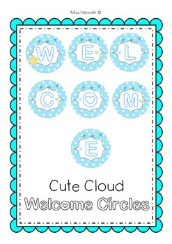Welcome Banner- Cute Circles