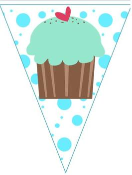 Welcome Banner Cupcake Theme