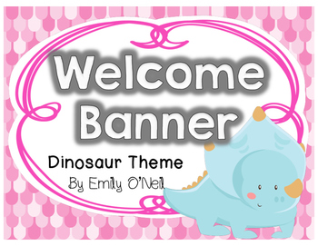 Welcome Banner (Dinosaur Theme)