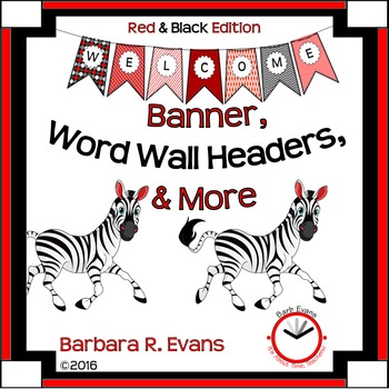CLASSROOM DECOR: Welcome Banner - Red & Black
