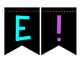 Welcome Banner in Neon and Black Colors