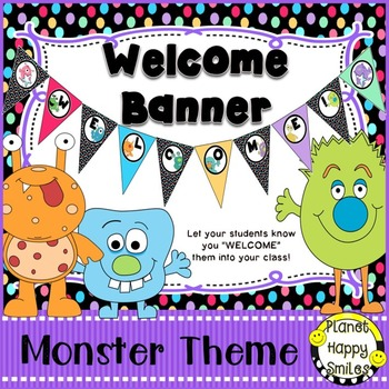 Welcome Banner in a Monster theme