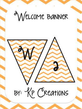 Welcome Banner - orange chevron