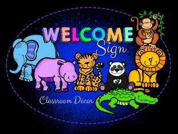 Welcome Banner/Sign Zoo Animal Theme