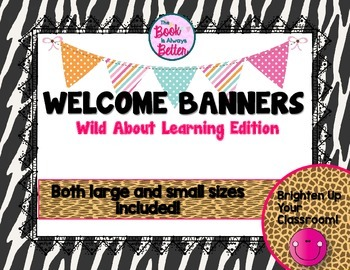 Welcome Banners: Wild About Learning Edition