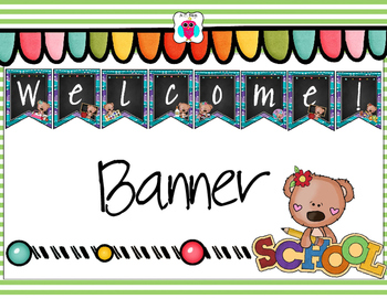 Welcome Bear Themed Banner
