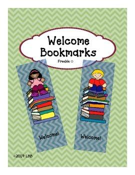 Welcome Bookmarks {FREEBIE}