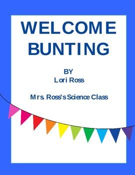 Welcome Bunting (Editable) FREEBIE