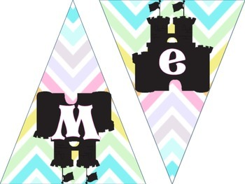 Welcome Bunting- Fairy Tale theme