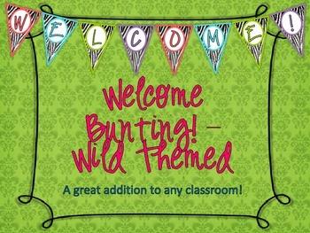 Welcome Bunting - Wild Theme