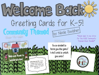 Welcome Home to _____ Grade!! Back to School Card for stud