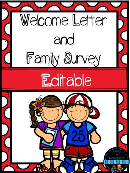 Welcome Letter and Family Survey - Back to School -
