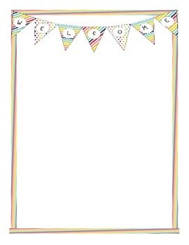 Welcome Letterhead Rainbow