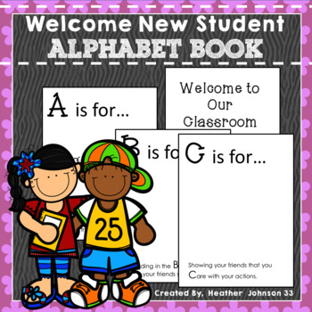 Welcome New Student: Alphabet Book