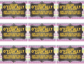 """Welcome """"O-fish-ally"""" Back To School Labels"""