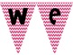 """""""Welcome"""" Pennant Banner- 4 Chevron Colors {FREEBIE}"""