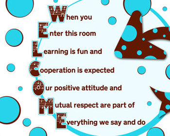 Welcome Poster for any classroom