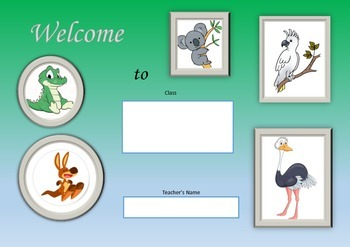 Welcome Sign - Australian Animals