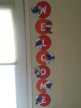 Smurfs Welcome Sign
