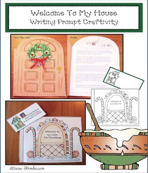 Welcome To My House Writing Prompt Craftivity