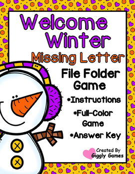 Welcome Winter Missing Letters File Folder Game