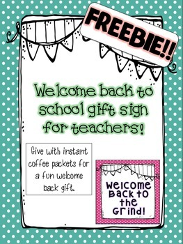 Welcome back mini signs
