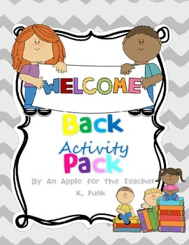 Welcome back to School Activity Pack