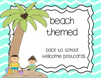 Welcome postcards - beach themed
