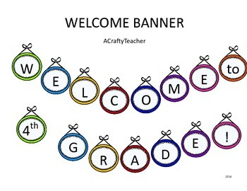 Welcome to (1st-12th) Grade! Banner