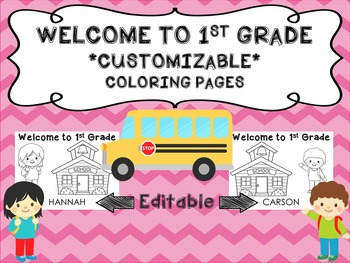 Welcome to 1st Grade Name Sheets